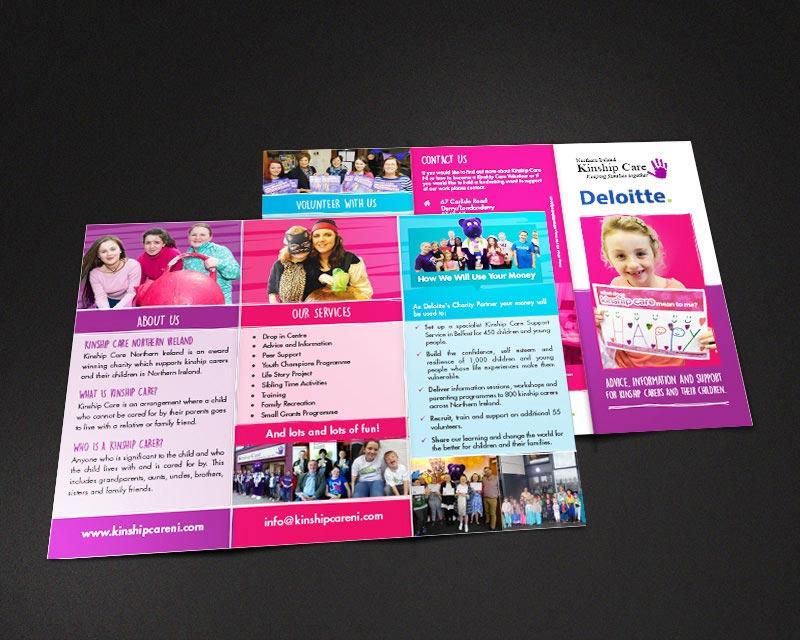 kinship care brochure design