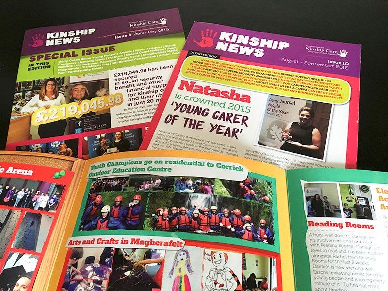 kinship care newsletter design