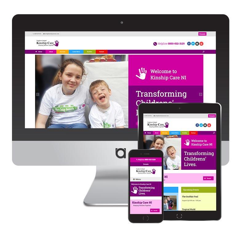 kinship care ni website design