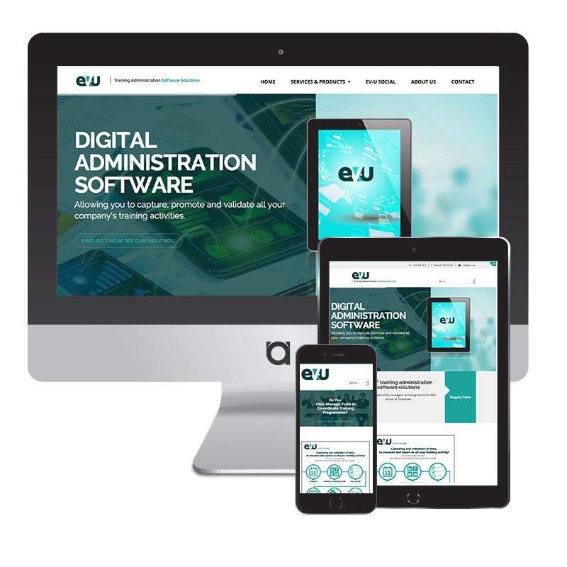 evu website design
