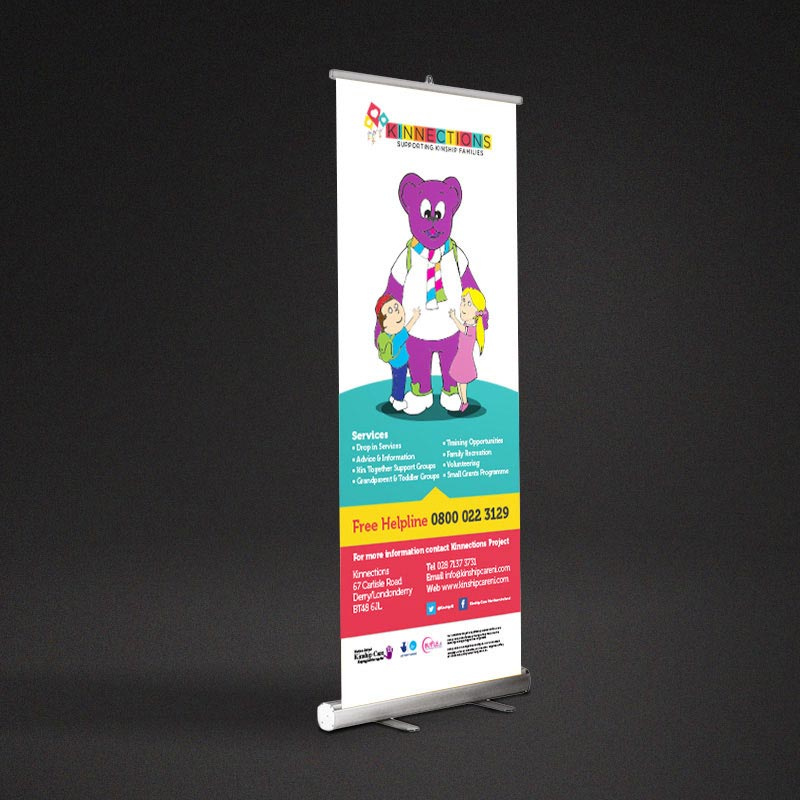 kinnections popup stand design