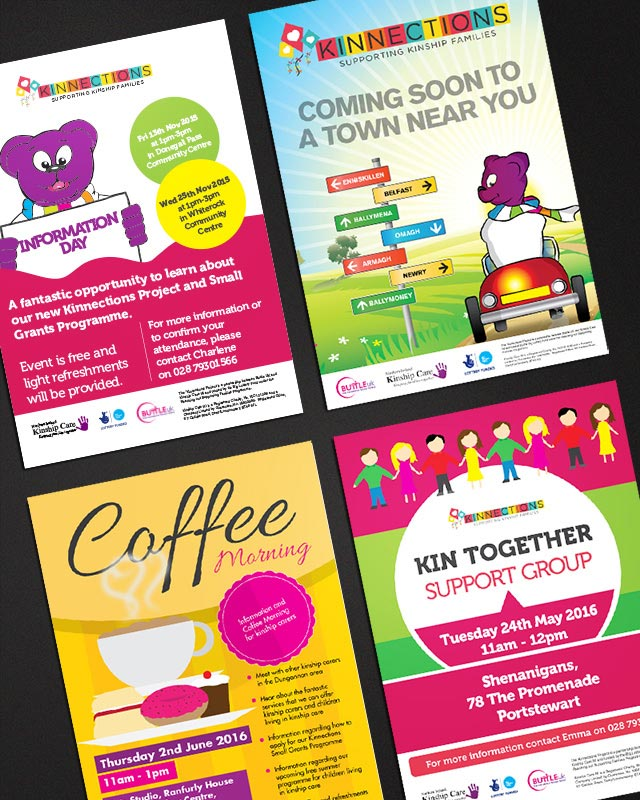 kinnections posters design