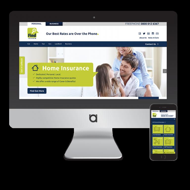 find insurance ni web design